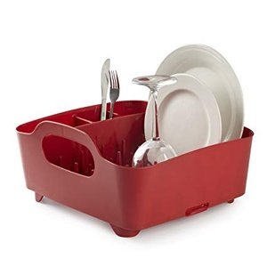 Umbra 330590-505 Escurreplatos Tub Rojo